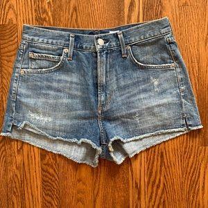 Agolde Anja High Waisted Cutt-Off Shorts